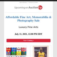 Fine Art, Memorabilia & Photography Sale   Luxury Fine Arts