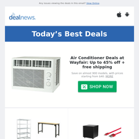 Up to 45% off Air Conditioner Deals at Wayfair | Up to $800 off Garage Storage at Home Depot | Up to 62% off Monoprice 19th Anniversary Sale