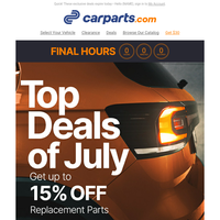 [ALMOST OVER] July's Top Deals + Up to 15% Savings For You