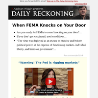 When FEMA Knocks on Your Door