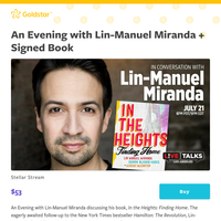 NEW: An Evening with Lin-Manuel Miranda + Signed Book