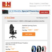 Today's Deals: Spieltek Gaming Chairs, Letscom Fitness Trackers, Syrp Genie II Motorized Pan/Tilt Head, PortaBrace Lightweight Carrying Case