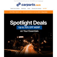 TODAY'S SPOTLIGHT: Up to 70% OFF MSRP on Vehicle Parts (Your Extra 5% OFF Inside!)
