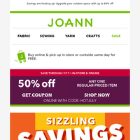 🔥  Hi! Here's 50% off a regular-priced item 🔥