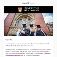 {NAME}, define your future with University of Birmingham online!