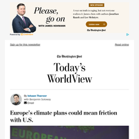 Today's WorldView: E.U. climate plans could mean friction with U.S.