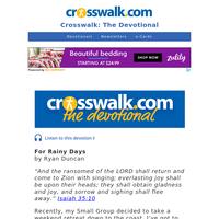 For Rainy Days - Crosswalk the Devotional - July 16