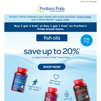 Best-selling Fish Oils up to 20% OFF