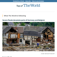 Severe floods devastate parts of Germany and Belgium