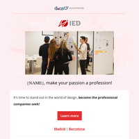 {NAME},  develop your creativity in Spain💃