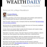 Tesla Just Hit a Major Roadblock