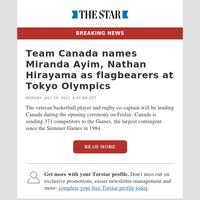 Team Canada names Miranda Ayim, Nathan Hirayama as flagbearers at Tokyo Olympics