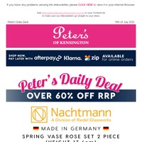 Over 60% off RRP - Nachtmann Spring 2 Piece Vase Sets $39 per set (Made in Germany)