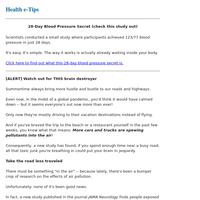 28-Day Blood Pressure Secret INSIDE (study results)