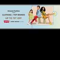 Amazon Fashion Clothing   Get upto 70% OFF on Top Brands   LEVI'S, Vero Moda & More