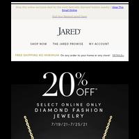 Save 20%* on select Diamond Fashion Jewelry