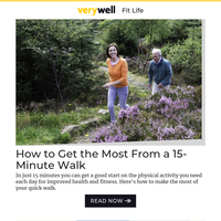How to Get the Most From a 15-Minute Walk
