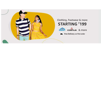 Amazon Fashion India - Clothing & Footwear Collection   Prices Starts from Rs. 199/-   Shop Now