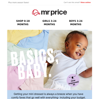 Grab 2 baby basic two packs for R80 😃