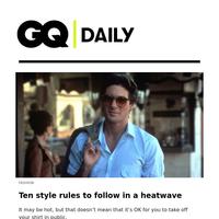 Ten style rules to follow in a heatwave