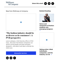 'The fashion industry should be as diverse as its consumers': A PVH perspective