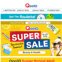 Beauty Super Brand Mall with Exclusive Vouchers! Collect vouchers & cart out now!