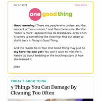 5 Things That Most People Clean Too Often