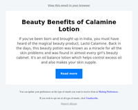 Beauty Benefits of Calamine Lotion