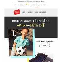 Shop smart for Back-to-School with up to 40% off!