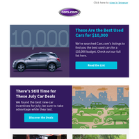 What Are the Best Used Cars for $10,000?
