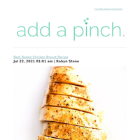 Best Baked Chicken Breast Recipe