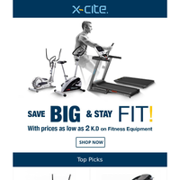 Save Big, Stay Fit - Prices As Low As KD 2 On Fitness Equipment. Buy Now