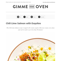 New Post: Chili Lime Salmon with Esquites