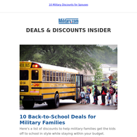 10 Back-to-School Deals for Military Families