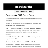 NEW Acapulco 1965 Pocket Combs are here
