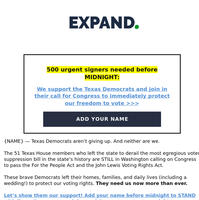 Texas Democrats desperately need your help.
