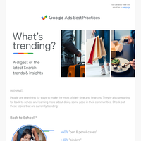 What's trending? Back-to-school, finances, and more.