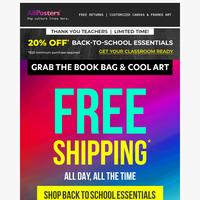👩🏫 Teacher's Pet: Take 20% off on Back To School Essentials*