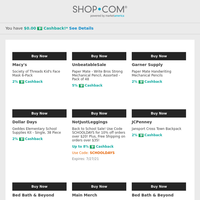 Get Back to School with SHOP.COM