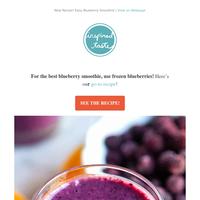 New Recipe! Easy Blueberry Smoothie