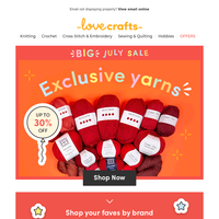 Shop the rainbow! 30% off EXCLUSIVE Yarns 👀