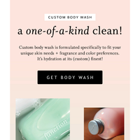 A custom body wash made just for you