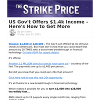 US Gov't Offers $1.4k Income – Here's How to Get More