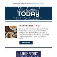 Hatch's Sauteed Scallops, Grapenut-Raisin Ice Cream & Best 5 Family Beaches in New England