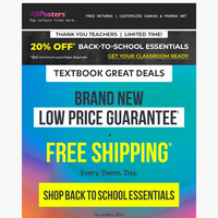 Homeroom PSA: 20% off on Back To School Essentials*