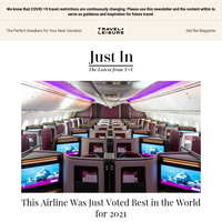 This Airline Was Just Voted Best in the World for 2021
