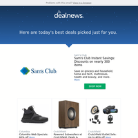 Your DealNews: Sam's Club Instant Savings: Discounts on nearly 300 items & More