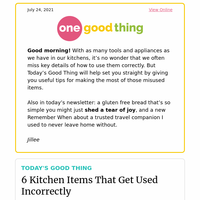 Are You Using These 6 Kitchen Items The Wrong Way?