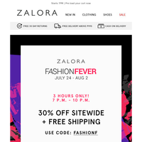 Fashion Fever Feeling: 30% off SITEWIDE + FREE SHIPPING 🚚🎊