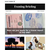 How can you apply for a travel report in the UAE?